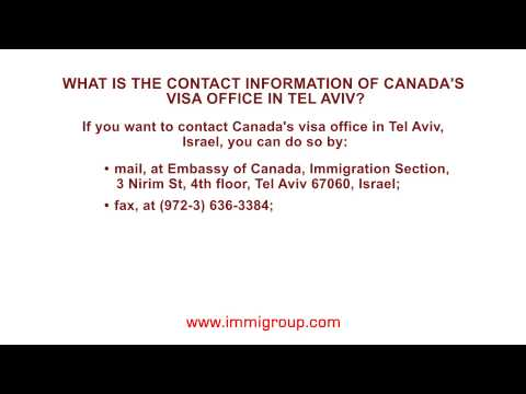 What is the contact information of Canada's visa office in Tel Aviv?