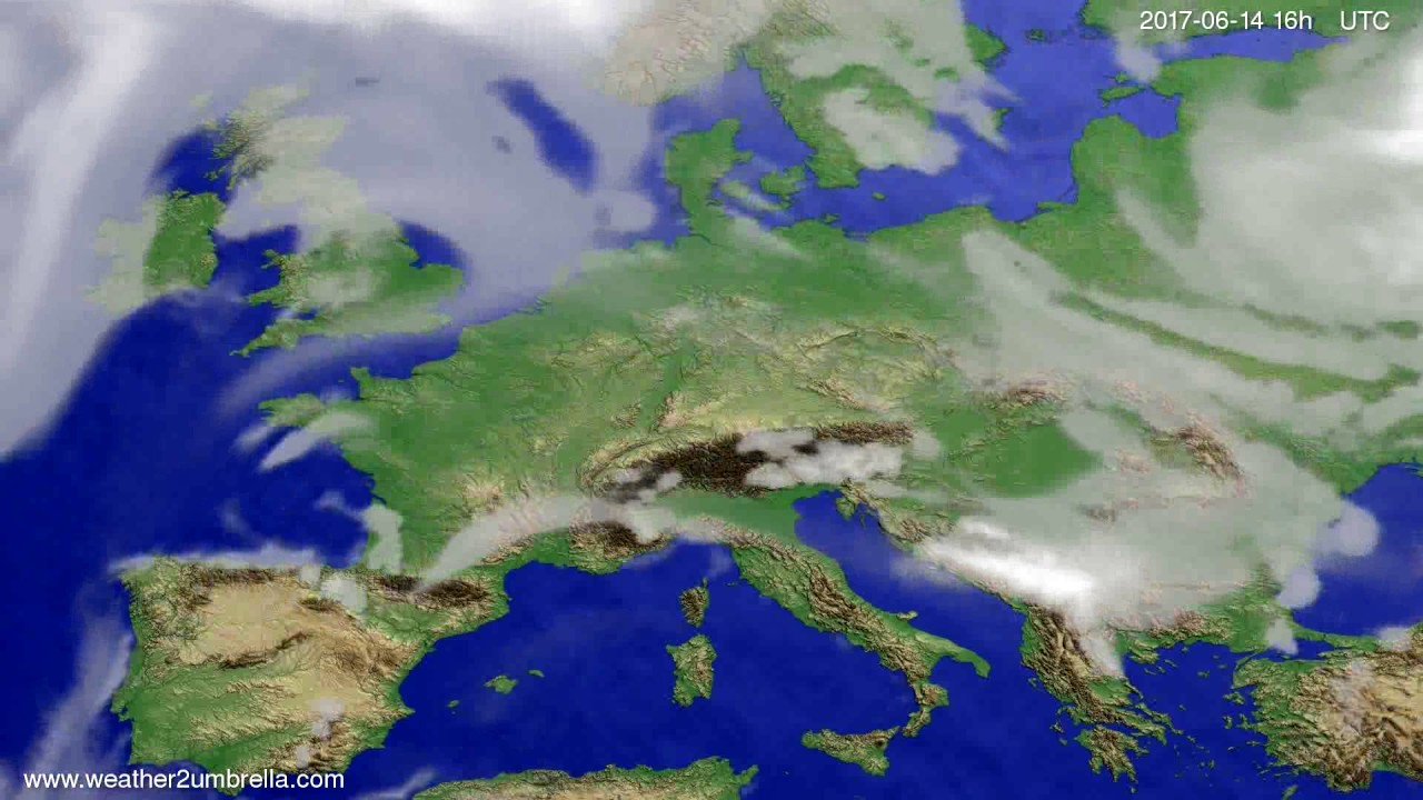Cloud forecast Europe 2017-06-11