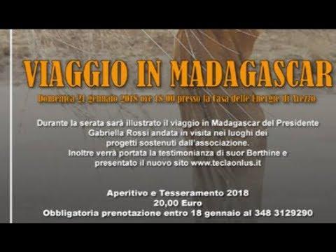 """""""Viaggio in Madagascar"""", appuntamento con Tecla Onlus domenica 21 gennaio alla Casa dell'Energia"""