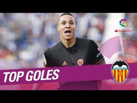 TOP Goles Valencia CF LaLiga Santander 2017/2018 видео