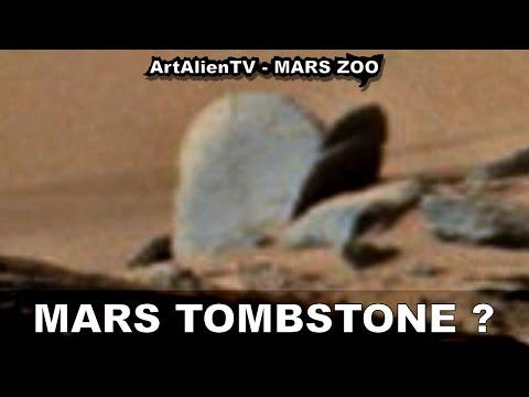 MARS TOMBSTONE? Alien Graveyard Ignored by Curiosity Rover. ArtAlienTV – MARS ZOO 1080p