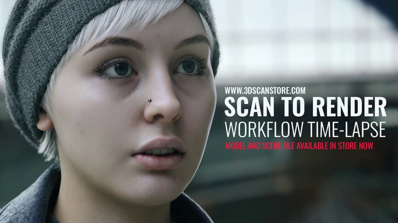 3d face scan rendering 3ds max tutorials time lapse