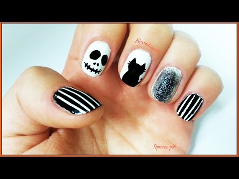 nail art jack skeleton