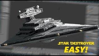 que tal aprender a fazer o Starwars Destroyer ?! eis ai no blender