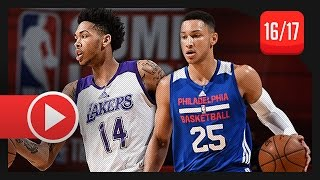 Brandon Ingram vs Ben Simmons SL Duel Highlights (2016.07.09) Lakers vs 76ers - TOP PICKS!