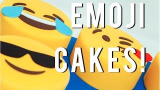 How To Make your favorite EMOJIS out of CAKE!!! Chocolate cakes, buttercream and fondant!