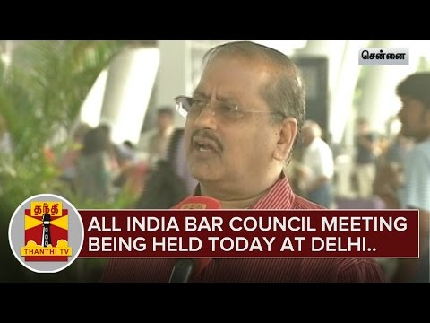 All-India-Bar-Council-meeting-being-held-today-at-Delhi-Thanthi-TV-04-03-2016