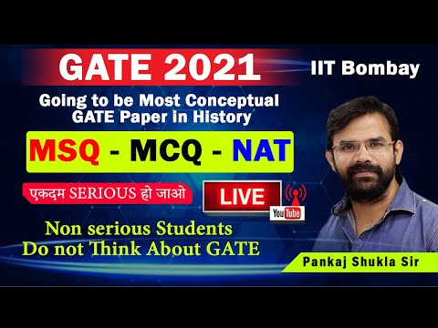 MSQ MCQ NAT I Totally new Concept in GATE 2021 Paper I IIT Bombay I GATE 2021I