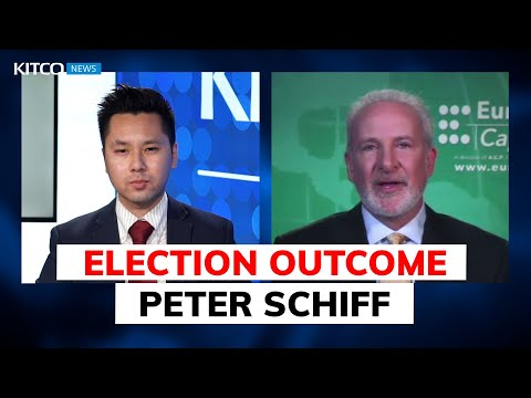 Peter Schiff: will Biden or Trump win? Outcomes for markets, taxes, inflation