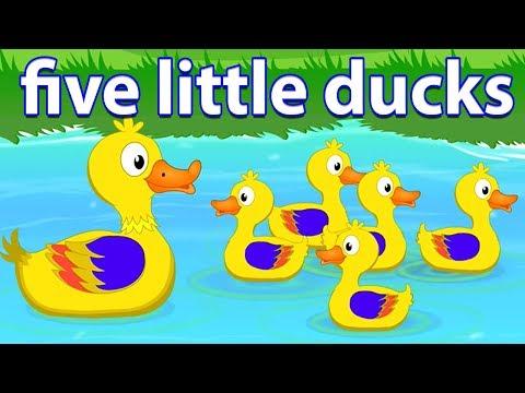 năm con vịt nhỏ | bài hát cho em bé | trẻ em vần | Five Little Ducks | Preschool Rhyme | Kids Song - Thời lượng: 27 phút.