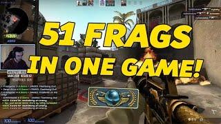 CS:GO - GLOBAL ELITE GAME: 51 FRAGS!