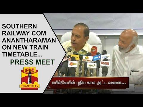 Southern-Railway-COM-Anantharaman-on-New-Train-Timetable-Press-Meet-Thanthi-TV