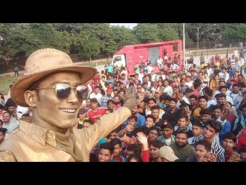 2020 public review about goldenuniqueboy living statue of mumbai #goldenuniqueboy #livingstatue #pr