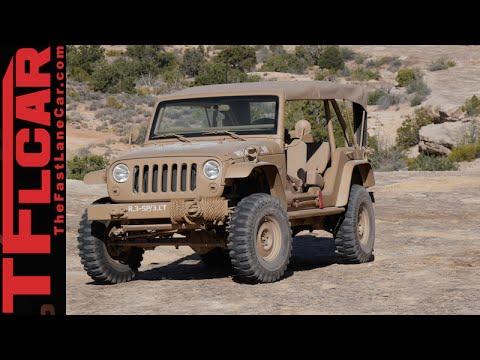 We drive the crazy cool retro Jeep Wrangler JK2A Staff Car Concept