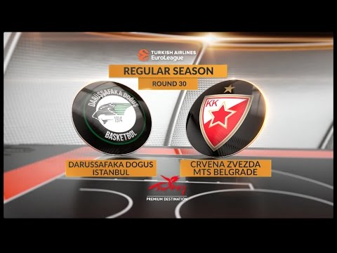 EuroLeague Highlights RS Round 30: Darussafaka Dogus Istanbul 78-62 Crvena Zvezda mts Belgrade
