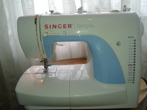 SINGER Simple, Como Hacer Un Ojal Maquina De Coser Sewing Machine Buttonhole