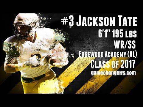 #3 Jackson Tate / WR,SS / Edgewood Academy (AL) Class of 2017