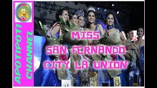 MIss San Fernando City La Union 2017