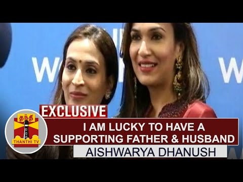 Exclusive--I-am-Lucky-to-have-a-Supporting-Father-Husband--Aishwarya-Dhanush-Thanthi-TV