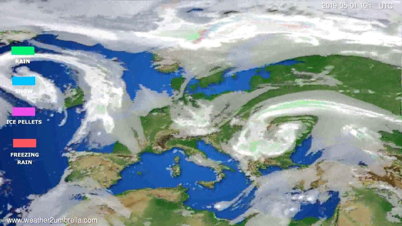 Precipitation forecast Europe // modelrun: 00h UTC 2019-04-29