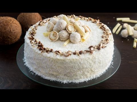 squisita torta raffaello, al cocco e cioccolato bianco - ricetta