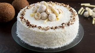 Almond Coconut Cake (Raffaello cake) Recipe by Home Cooking Adventure