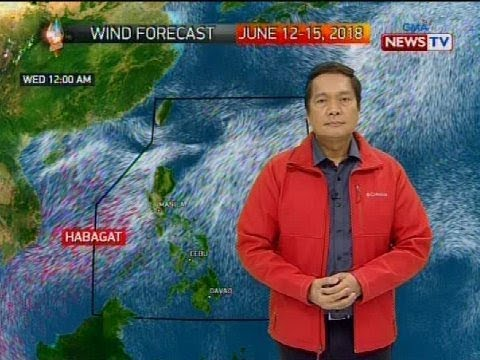 Weather update as of 1218 p.m. June 12, 2018