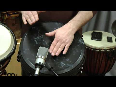Hand drum lesson #5 with a Remo djembe