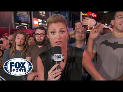 Erin Andrews Photobombed on FOX NFL Sunday