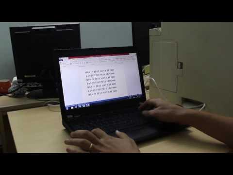 Video test tài liệu bản in auto cad bằng máy in canon lbp3800