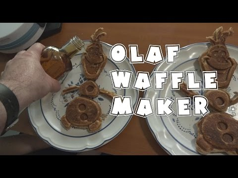 Frozen Olaf Waffle Maker   RainyDayDreamers Cooking in 4k CC