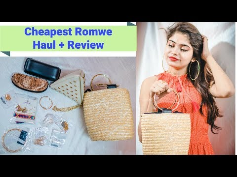 ROMWE HAUL   67 Rs - 700 Rs   Jewellery, Bags, Sunglasses   Cheap Rates   ONLINE SHOPPING