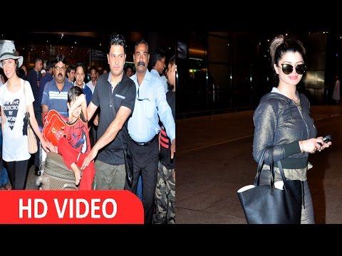 Bhushan Kumar, Divya Khosla Kumar & Kainaat Arora Spotted At Airport