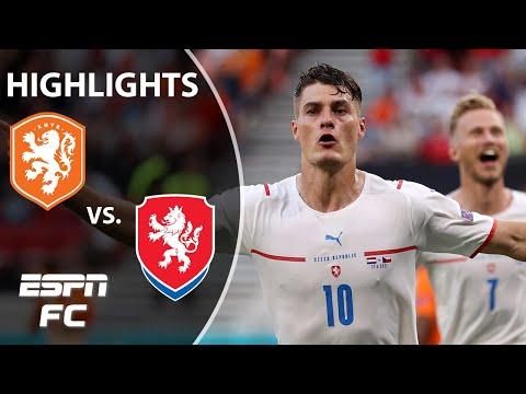 De Ligt sent off as Czech Republic stuns the Netherlands 2-0 at Euro 2020 | Highlights | ESPN FC