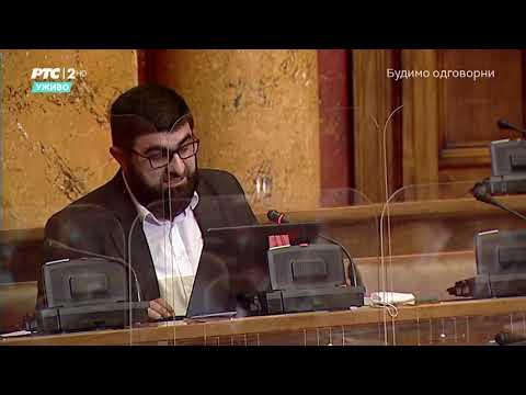 Narodni poslanik dr. Jahja Fehratović obraćanje u Skupštini 24. 10. 2020.