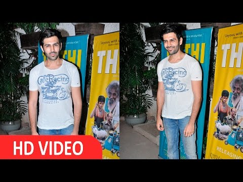Kartik Aaryan At Screening Of Film THITHI