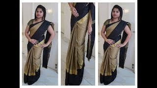 Video HOW TO DRAPE A SAREE TO LOOK SLIM - BEST AND EASY METHOD - STEP BY STEP PROCEDURE MP3, 3GP, MP4, WEBM, AVI, FLV Desember 2018