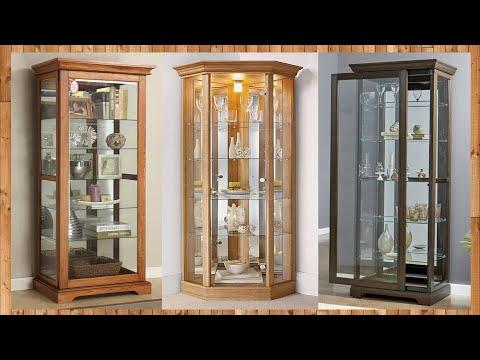 Home Glass Corner Display Cabinet/ Wooden Corner Cabinet Designs