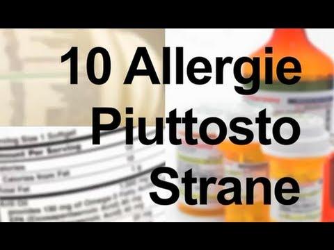 ecco quali sono le 10 allergie più strane!