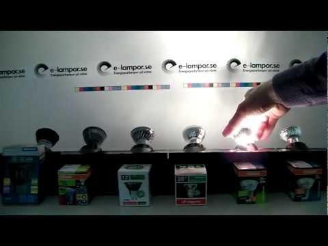Test av lågenergilampor   LED   Halogen   GU10
