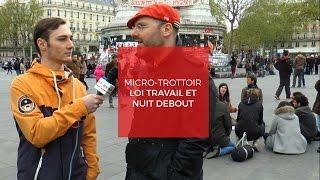 Micro-trottoir : loi travail et Nuit Debout