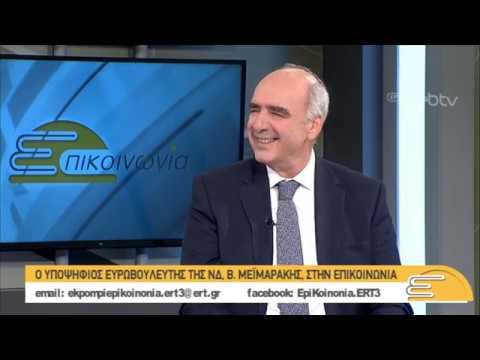 Ο Ευάγγελος Μεϊμαράκης, υποψήφιος Ευρωβουλευτής ΝΔ, στην ΕΠΙΚΟΙΝΩΝΙΑ | 16/05/2019 | ΕΡΤ