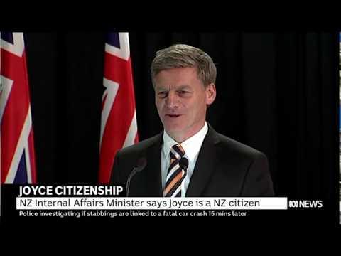 NZ PM Bill English confirms Aus DPM Barnaby Joyce is a citizen by descent