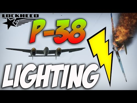 War Thunder P-38G Lightning! War Thunder Gameplay