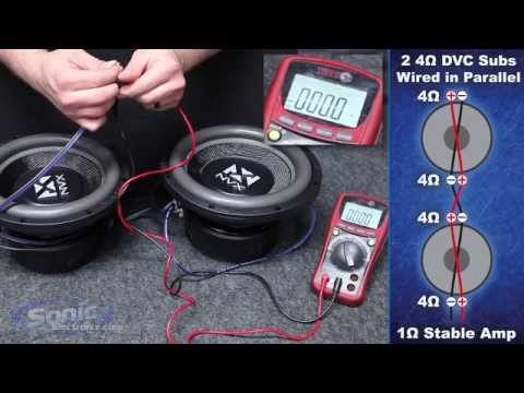 4 ohm - Learn how to wire two dual 4 ohm car subwoofers to a 1 ohm final impedance using the parallel wiring method. The most common question we are asked here at So...