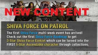 Walking Dead : Road to Survival - NEW SHIVA FORCE EVENT - LIVE!!!