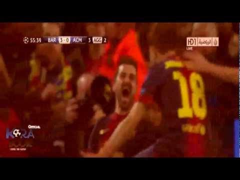 Barcelona Vs Milan 4-0 2013 Full HD - Goals & Highlights (12.3.2013)