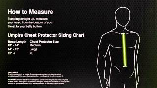 Champro Sports Size Guide Umpire Chest Protectors