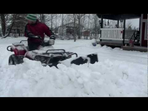 atv odes 400cc 4x4 snow plowing best atv plow 3