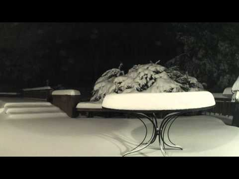 Watch: Time-Lapse Video Shows Blizzard Nemo Covering Patio Table with Snow